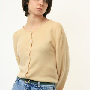 Ralph Lauren Cashmere Cardigan Light Yellow Size M